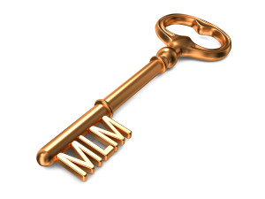 MLM - Golden Key. Business Concept.