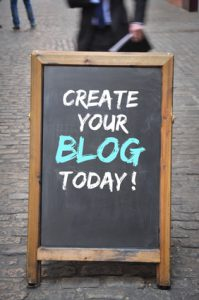 Create a blog today outdoor blackboard panel